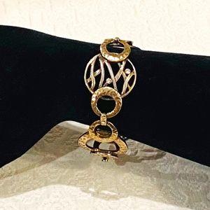 Vintage Monet Hammered Metal Bracelet